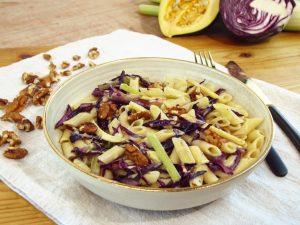 Das ALB-GOLD Rezept des Monats November - mit Kürbis und Penne.