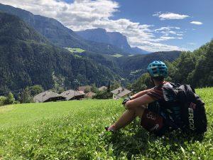 Blick auf den Schlern bei der beitune Transalp Zillertal-Gardasee